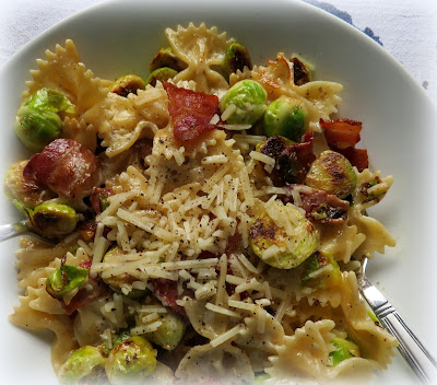Bow Tie Pasta with Sprouts & Bacon