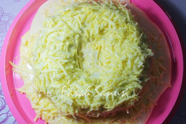 Resepi Kek Pandan Cheese Leleh