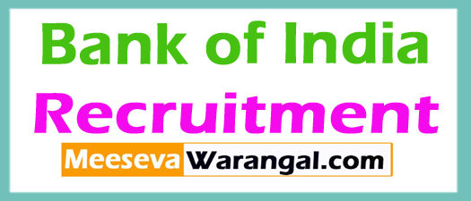 Bank of India BOI  Recruitment