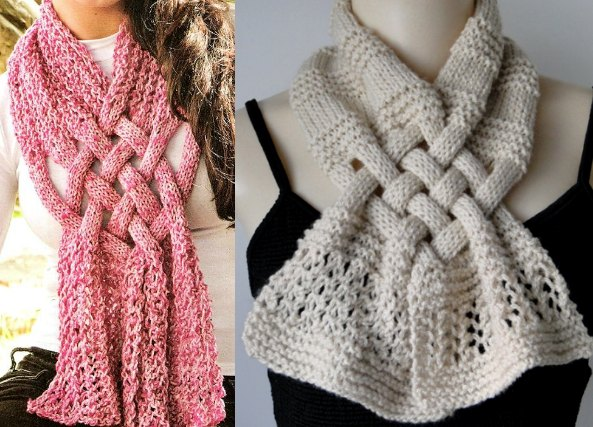 Patron Crochet Bufanda Trenzada