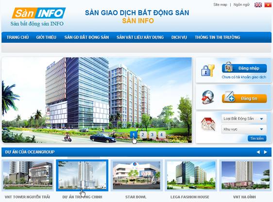 thiết kế website bất động sản chất lượng