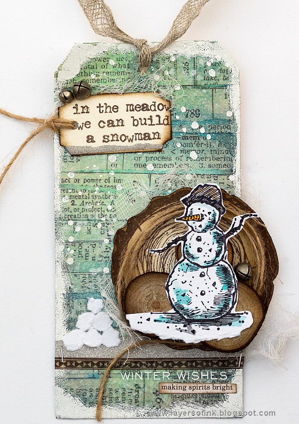 Layers of ink - Snowman Tag Tutorial by Anna-Karin Evaldsson