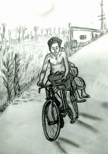 PENCIL DRAWING - FARMER