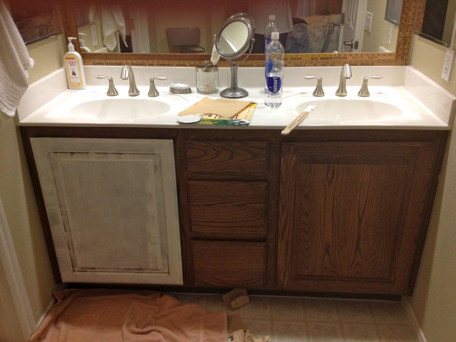 Vintage Marketplace White Redirection Bathroom Redo