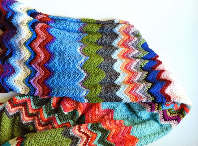 Free Crochet Pattern Chevron Blanket by Elise Engh