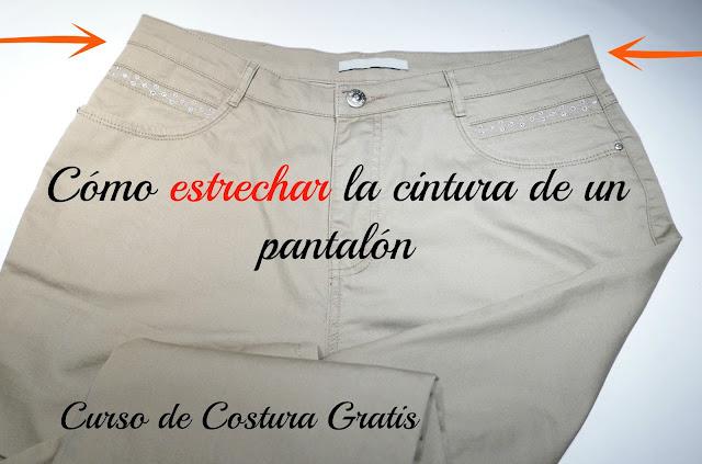 Costura Curso Un De Pantalón La Gratis Cómo Estrechar Cintura p761R5wq7x