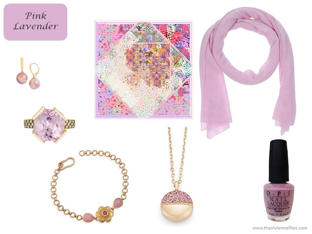Pink Lavender accessories from Pantone Spring 2018 colors