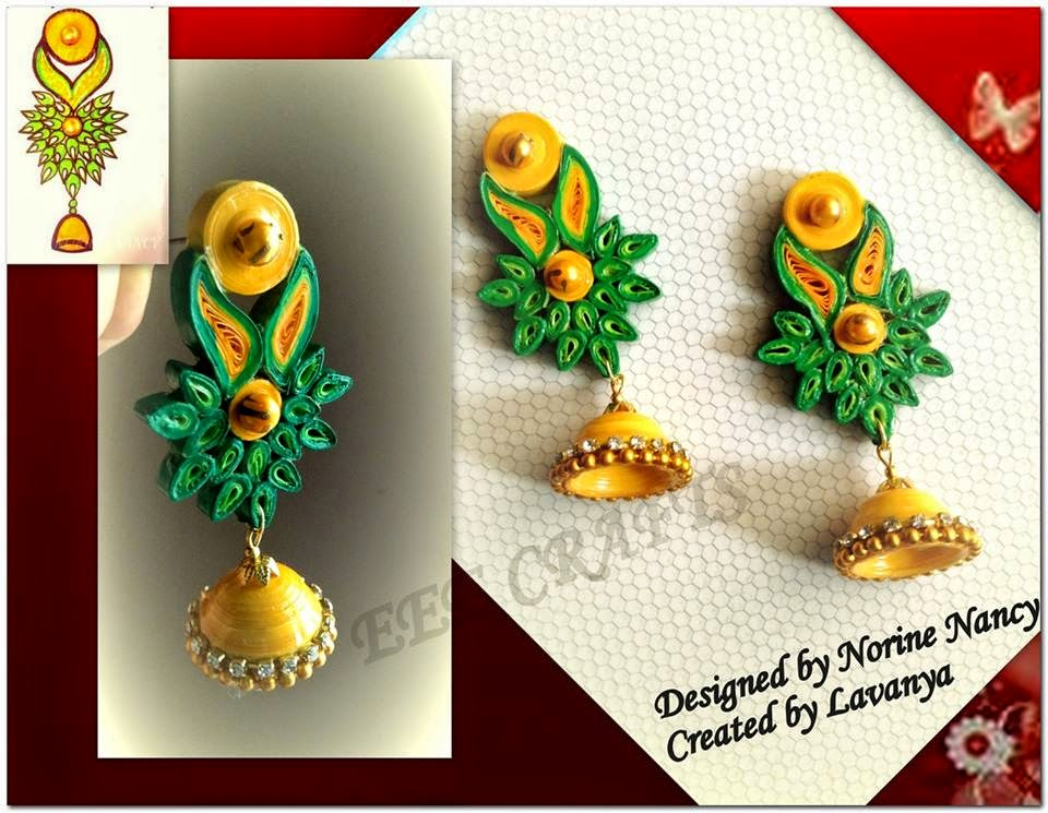 Diy quilled jumkha earrings a guest tutorial jewels of for How to use quilling strips
