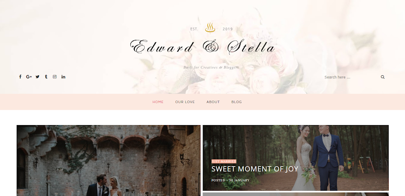 Edward & Stella Free Blogger Template