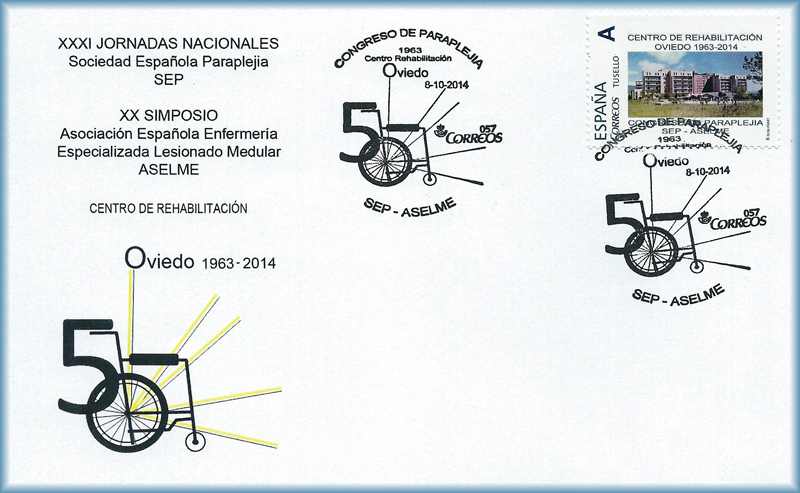 Sobre matasellos del Congreso de Paraplejia 2014