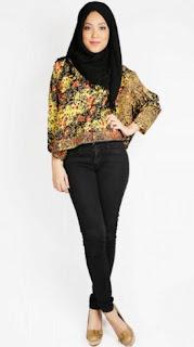 Model baju batik atasan muslim