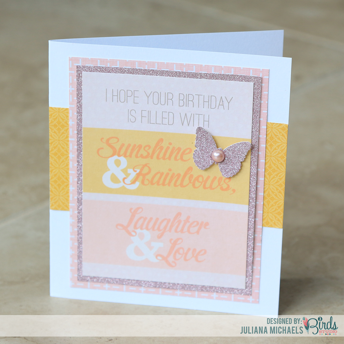 Sunshine & Rainbows feminine birthday cards by Juliana Michaels for 3 Birds Design