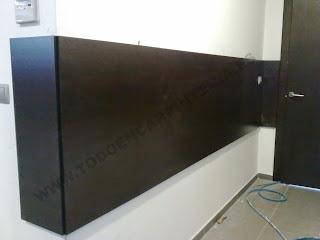 Para proteger paredes con madera de wengue