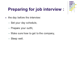Prepare Well for Your Interviews