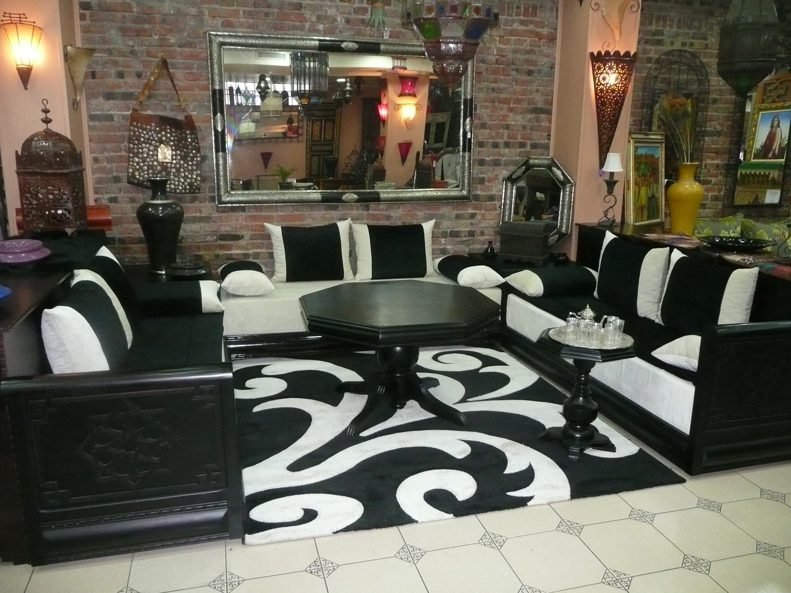 Salon marocain Model dedecoration desalon moderne