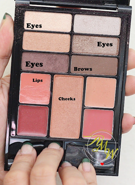 a photo of Revlon Eyes, Cheeks, Lips Palette in Romantic Nudes