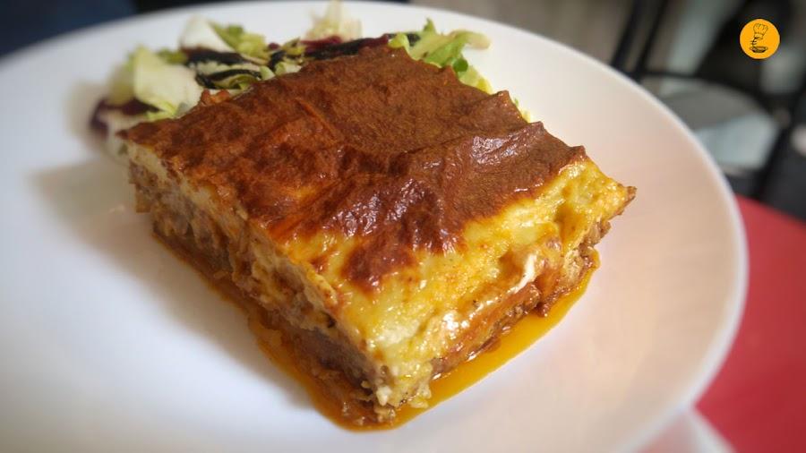 Musaca en Café Periplo, Café Periplo Chamberí, Café Periplo cocina griega