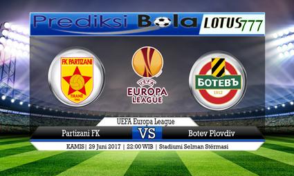 Prediksi Pertandingan antara Partizani FK vs Botev Plovdiv Tanggal 29 Juni 2017