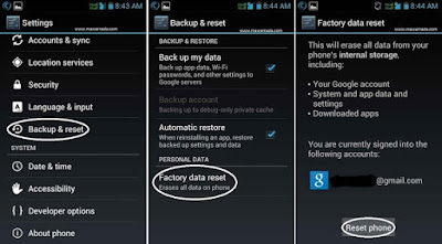 Cara Factory Reset Hp Android andromax