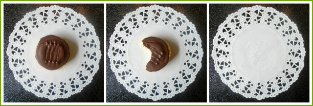 Homemade vegetarian Lime Jaffa cakes