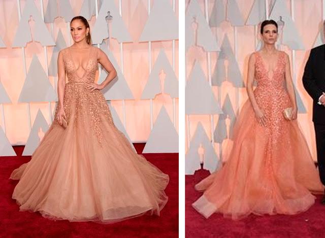 Par de vasos famosas, Oscar 2015, Jennifer Lopes e mulher de diretor