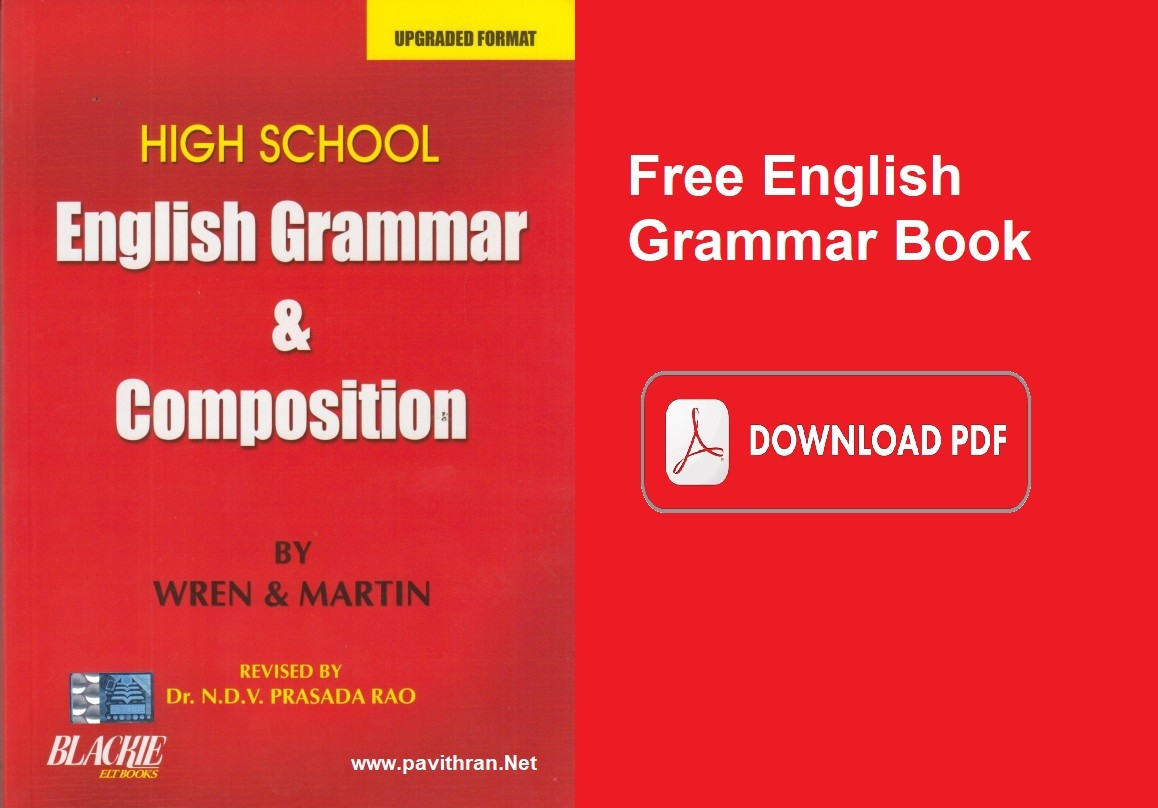 Wren & Martin English Grammar Book Download PDF for Free