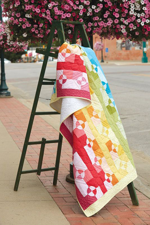 Color Play Rainbow Quilt Free Pattern