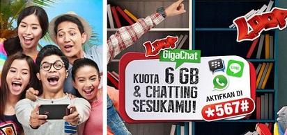 Dengan 30 Ribu, Dapatkan Paket Simpati Loop Giga Chat 6 GB