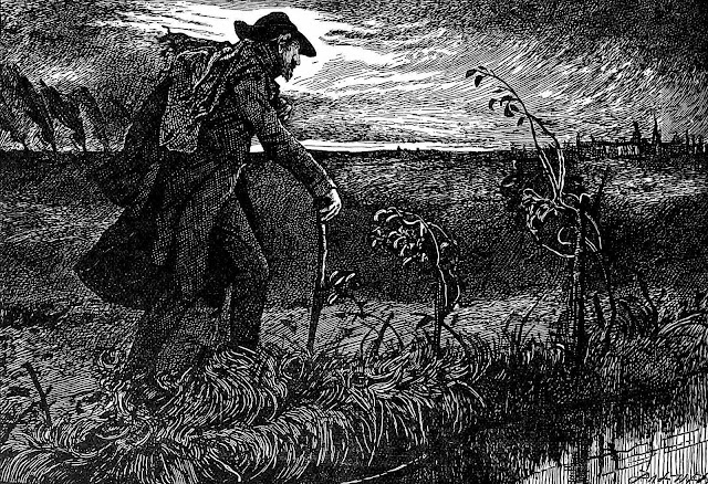 a J. Mahoney illustration for Dickens book
