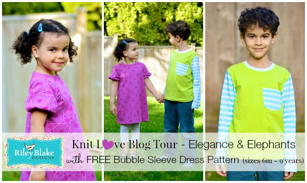 RBD Knit Love Blog Tour with free Bubble Sleeve Dress pattern