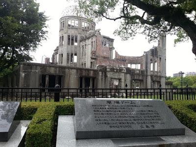 La cúpula donde cayó la bomba de Hiroshima