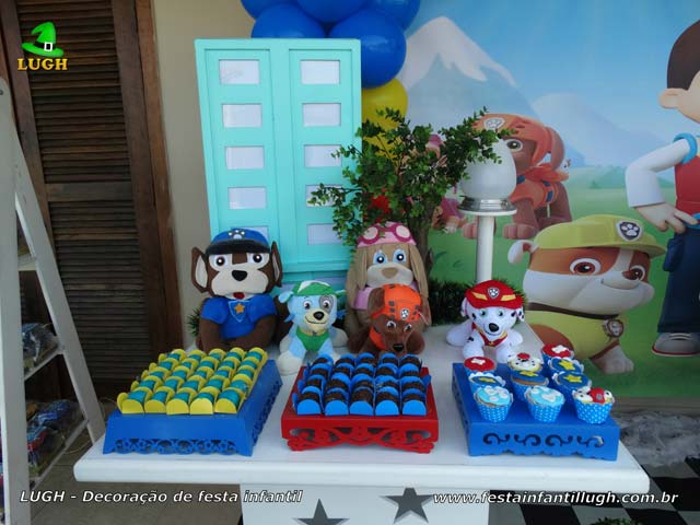Festa infantil Patrulha Canina - Decoração