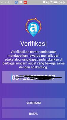 Cara Verifikasi email di Aplikasi Android Adakatalog