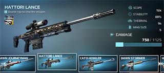 اسلحة لعبة قناص الغضب Sniper Fury