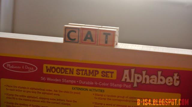 Wooden Stamps, Alphabet, Preschool