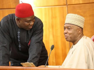 ''President Buhari and APC plotting court order that will overthrow Saraki, Ekweremadu'' PDP alleges