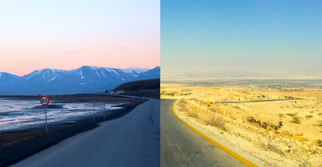 Journey to Desert and Arctic - Jordan and Svalbard Comparison
