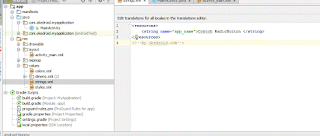 file string.xml Android Studio