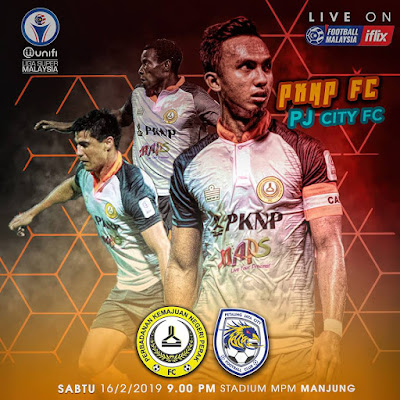 Live Streaming PKNP FC vs PJ City FC Liga Super 16.2.2019