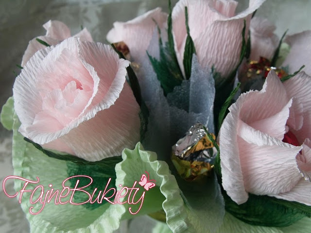 Słodki bukiet z cukierków na ślub