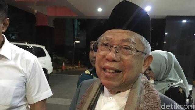 Diserang Yahya Waloni Soal Pemimpin Tua, Ini Tanggapan Ma'ruf Amin