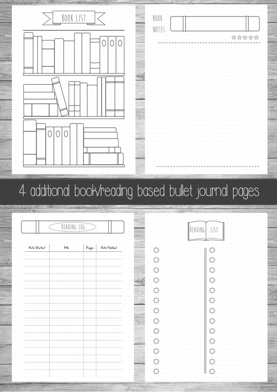 photo about Bullet Journal Books to Read Printable identified as The Friday Uncover: Bullet Magazine Looking at