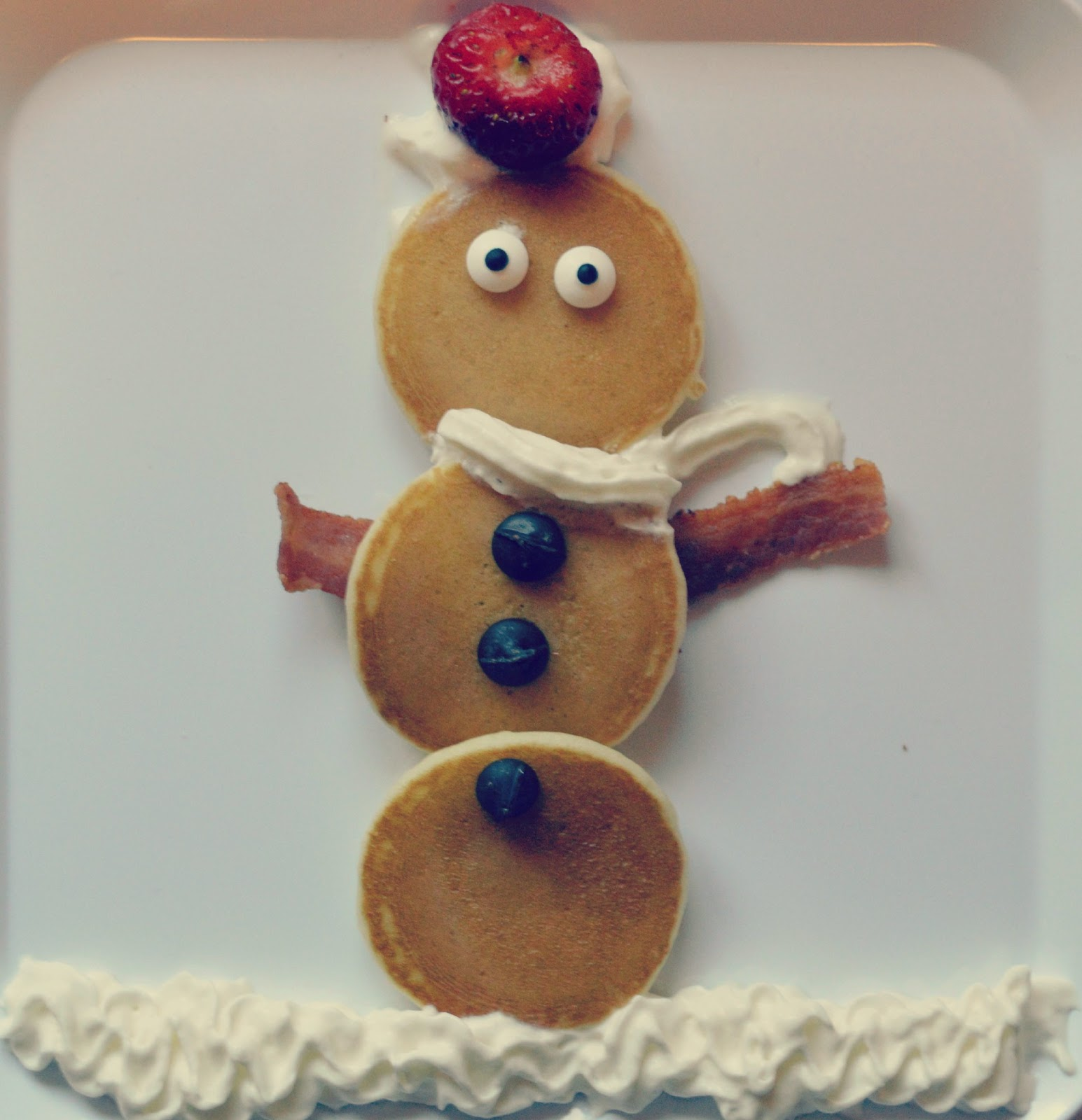Fun Kid's Christmas Breakfast Ideas - Snowman Pancakes