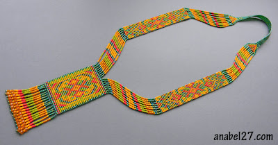 beadwork split loom necklace beaded jewelry beadwoven blog