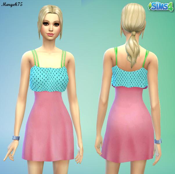 cute sims 4 summer dress recolour