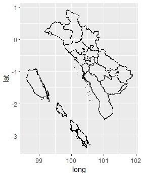 Peta Provinsi Sumatera Barat di R