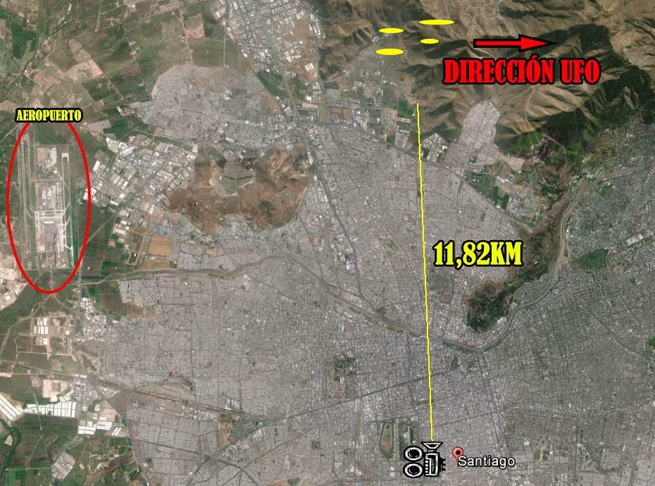 UFOs, na cidade de Santiago, Chile