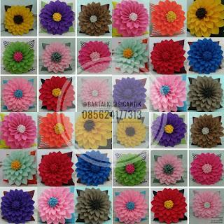 bantal kursi bunga dahlia