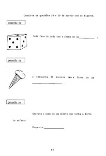 Avaliação de matemática 4º ano