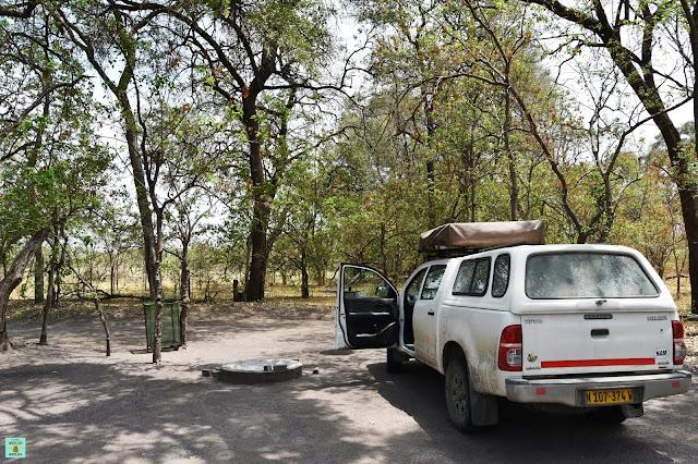 Cámping de Khwai en la Reserva de Moremi de Botswana